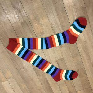 Chaussettes bariolées