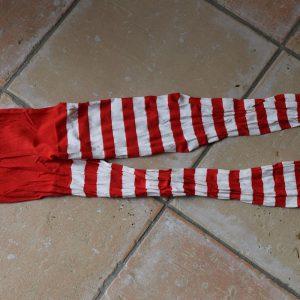 collant rouge et blanc enfant