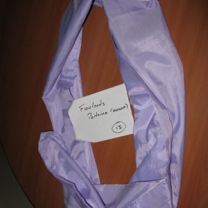 foulard poitrine mauve